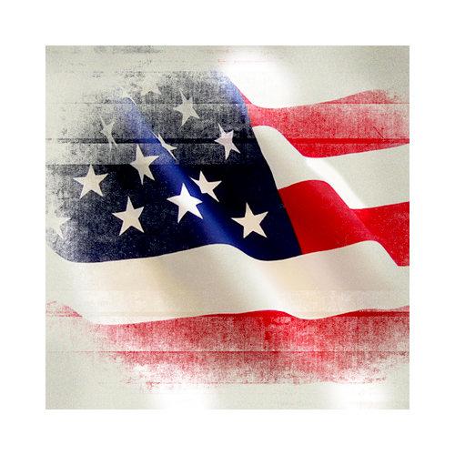 SugarTree - 12 x 12 Paper - U.S. Flag Wind Blown
