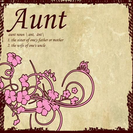 SugarTree - 12 x 12 Paper - Aunt