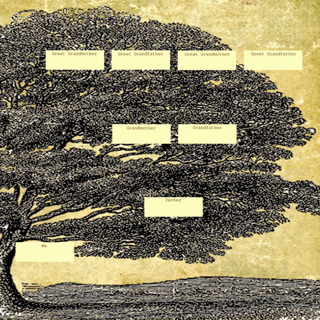SugarTree - 12 x 12 Paper - Family Tree Right