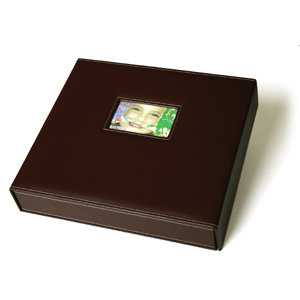 Scrapworks - Anthologie - (Bay Box Album) - 12 x 12 - Brown Leather