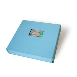 Scrapworks - Anthologie - (Bay Box Album) - 12x12 - Baby Blue Fabric