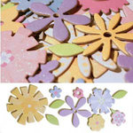 Scrapworks - Shimmer Shapes - Chipboard Shapes - Flower