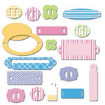 Scrapworks - Shimmer Shapes - Chipboard Shapes - Book Plate, CLEARANCE