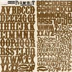 Scrapworks - Flea Market Collection - Alphabet Cardstock Stickers - Brown