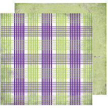 Scrap Within Reach - Full Bloom Collection - 12 x 12 Double Sided Paper - Purple Rain