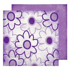 Scrap Within Reach - Full Bloom Collection - 12 x 12 Double Sided Paper - Wildflowers