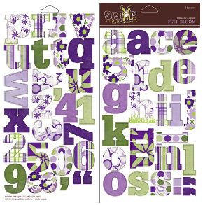 Scrap Within Reach - Full Bloom Collection - Chipboard Alphabets