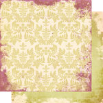 Scrap Within Reach - Afternoon Tea Collection - 12 x 12 Double Sided Paper - Green Peony