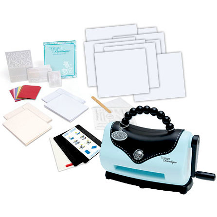 Sizzix - Texture Boutique Embossing Machine and 50 Piece Bonus Kit, BRAND NEW