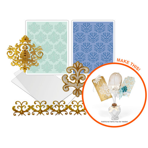 Sizzix - Damask Dies and Embossing Kit (Scrapbook.com Exclusive)