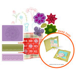 Sizzix - Flip-Its Floral Stamp, Emboss and Die Kit (Scrapbook.com Exclusive)