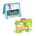 Sizzix - Life Made Simple Collection - Thinlits Die - Tri-Shutter and Easel Cardmaking Kit