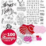 Sizzix - Clear Acrylic Stamps and Dies - 108 Piece Card Making Bundle