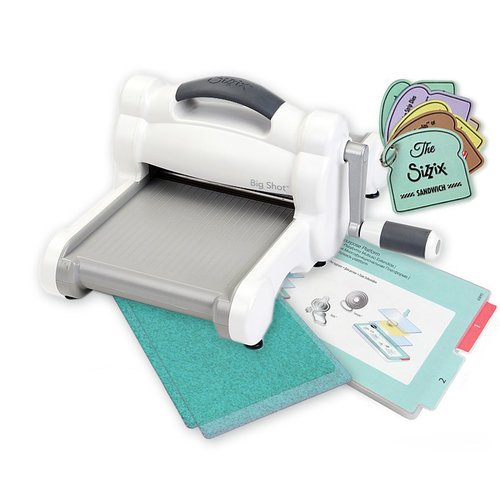 Sizzix - Big Shot Machine - White and Gray - With Exclusive Ocean Cutting Pads