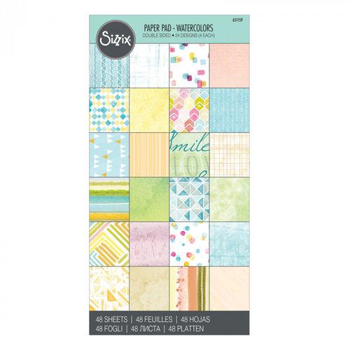 Sizzix - 6 x 12 Paper Pad - Watercolors