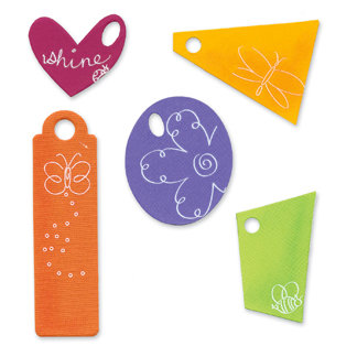 Sizzix - Bigz Die - Die Cutting Template - Tags, CLEARANCE