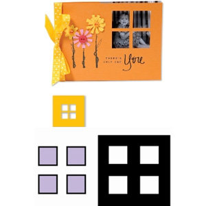 Sizzix - Movers and Shapers Die - Die Cutting Template - Four Window Panes