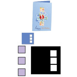 Sizzix - Movers and Shapers Die - Die Cutting Template - Three Window Panes