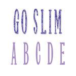 Sizzix - Bigz Die - Die Cutting Template - Go Slim Uppercase Alphabet Set, CLEARANCE