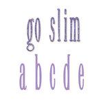 Sizzix - Bigz Die - Die Cutting Template - Go Slim Lowercase Alphabet Set, CLEARANCE