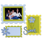Sizzix - Originals Die - Die Cutting Template - Large - Stamp Combo - Frames