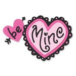 Sizzix - Sizzlits Die - Die Cutting Template - Medium - Phrase - Be Mine with Hearts, CLEARANCE