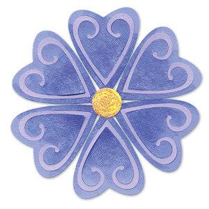 sizzix sizzlits die die cutting template medium flower heart