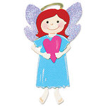 Sizzix - Sizzlits Die - Die Cutting Template - Medium - Angel with Heart, CLEARANCE