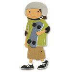 Sizzix - Sizzlits Die - Die Cutting Template - Medium - Boy with Skateboard, CLEARANCE