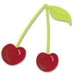 Sizzix - Sizzlits Die - Die Cutting Template - Small - Cherries, CLEARANCE