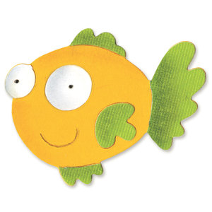 Sizzix - Sizzlits Die - Die Cutting Template - Small - Fish 2