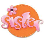 Sizzix - Sizzlits Die - Die Cutting Template - Small - Phrase - Sister