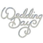 Sizzix - Sizzlits Die - Die Cutting Template - Medium - Phrase - Wedding Day