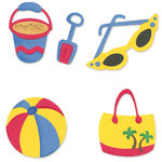 Sizzix - Sizzlits Die - Die Cutting Template - 4 Pack - Small - Beach Set 3, CLEARANCE