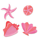 Sizzix - Sizzlits Die - Die Cutting Template - 4 Pack - Small - Shell Set 2