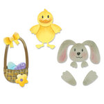 Sizzix - Sizzlits Die - Die Cutting Template - 4 Pack - Small - Easter Set, CLEARANCE