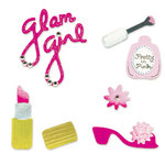 Sizzix - Sizzlits Die - Die Cutting Template - 4 Pack - Small - Glam Girl Set, CLEARANCE