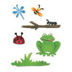 Sizzix - Sizzlits Die - Die Cutting Template - 4 Pack - Small - Nature Set, CLEARANCE