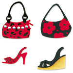 Sizzix - Sizzlits Die - Die Cutting Template - 4 Pack - Small - Purses and Shoes Set, CLEARANCE