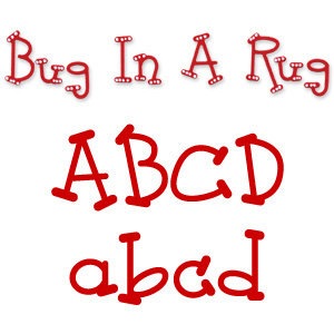 Sizzix - Sizzlits Die - Die Cutting Template - 9 Pack - Small - Bug In A Rug Alphabet Set
