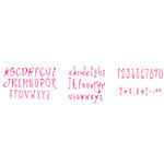 Sizzix - Sizzlits Die - Die Cutting Template - Alphabet Set - 35 Small Dies - Abbie Lover Duvers, CLEARANCE