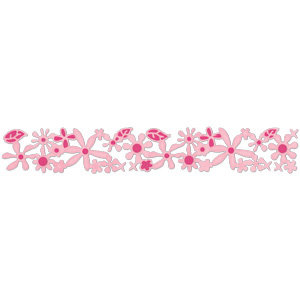 Sizzix - Sizzlits Decorative Strip Die - Die Cutting Template - Flowers Garden