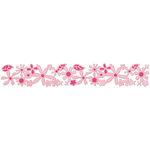 Sizzix - Sizzlits Decorative Strip Die - Die Cutting Template - Flowers Garden