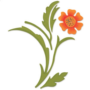 Sizzix - Bigz Die - Die Cutting Template - Decorative Accent with Flower and Leaves, CLEARANCE