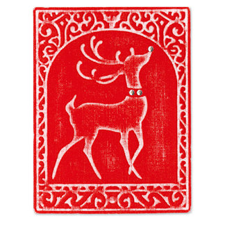 Sizzix - Embosslits Die - Die Cutting Template - Extra Large - Reindeer, CLEARANCE