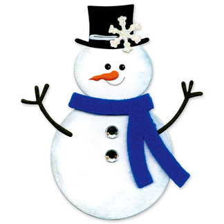 Sizzix Originals Die Die Cutting Template Large Snowman 2