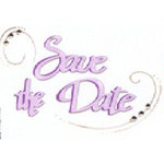 Sizzix - Sizzlits Die - Die Cutting Template - Medium - Phrase - Save the Date, CLEARANCE