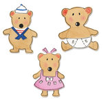 Sizzix - Sizzlits Die - Die Cutting Template - 3 Pack - Small - Baby Bears Set, CLEARANCE