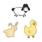 Sizzix - Sizzlits Die - Die Cutting Template - 3 Pack - Small - Baby Animals Set, CLEARANCE