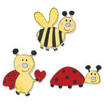Sizzix - Sizzlits Die - Die Cutting Template - 3 Pack - Small - Love Bugs Set, CLEARANCE